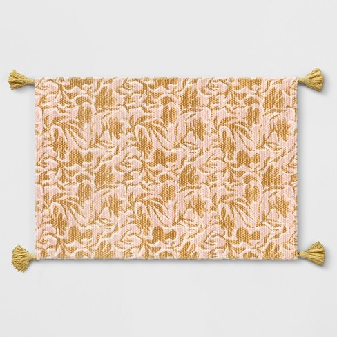 Yellowpink floral woven tasseled accent rug 2x3 opalhouse target yellowpink floral woven tasseled accent rug 2x3 opalhouse mightylinksfo