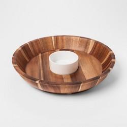 Acacia / Ceramic Chip & Dip Set - Threshold™
