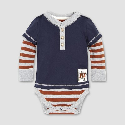 Burt's Bees Baby® Baby Boys' Fast and Free 2fer Bodysuit - Midnight 3-6M