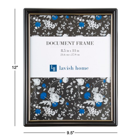 Document Picture Frame With Stand Hanging Hooks Black 85x11 6pk