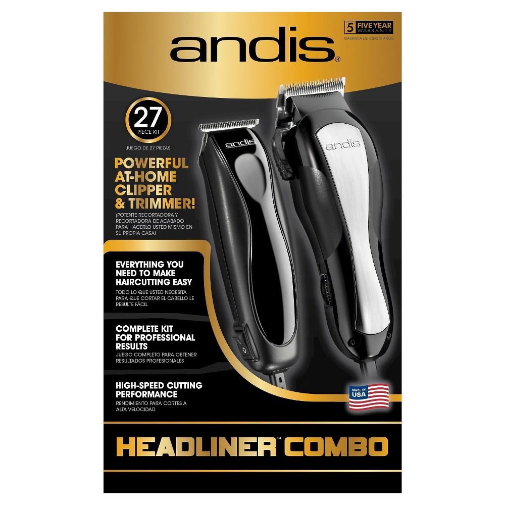 Andis Headliner Men's Electric Clipper & Trimmer Combo 27...