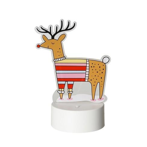 Reindeer Acrylic Edge Lit Sign - Room Essentials™