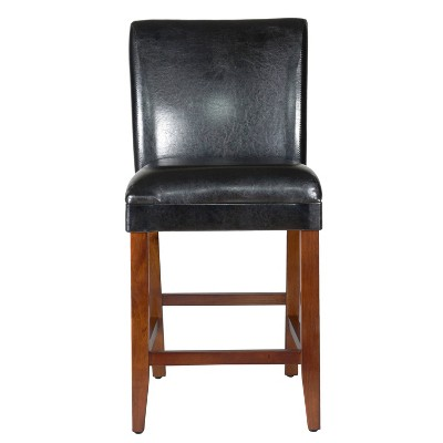 """24"""" Faux Leather Luxury Counter Height Barstool - HomePop"""