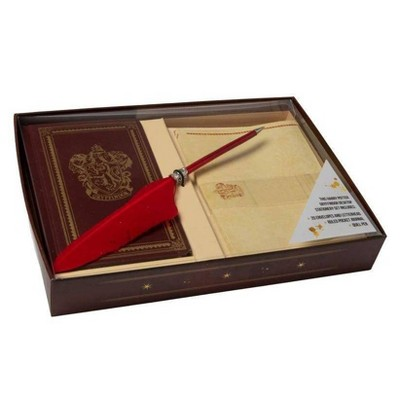 Harry Potter: Gryffindor Desktop Stationery Set (with Pen) - by  Insight Editions (Hardcover)