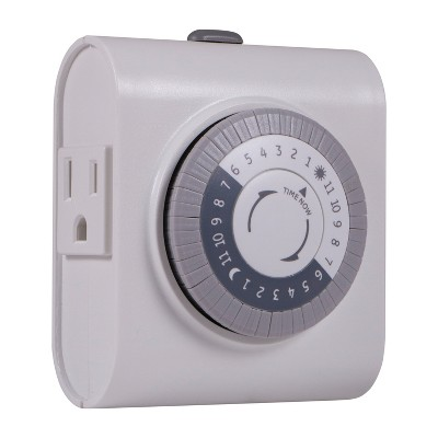 General Electric Indoor Mechanical Timer 24hr With 2 Outlets
