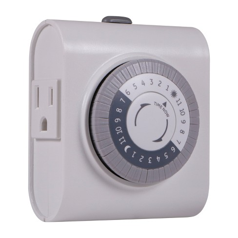 General Electric Indoor Mechanical Timer 24hr With 2 Outlets - image 1 of 4