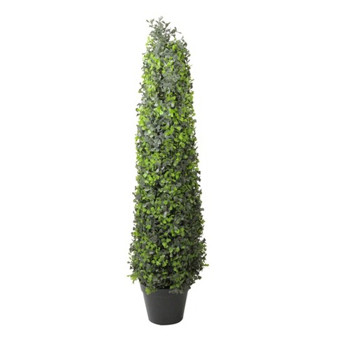 Northlight 3' Green and Black Potted Two-Tone Boxwood Artificial Topiary Tree - image 1 of 2