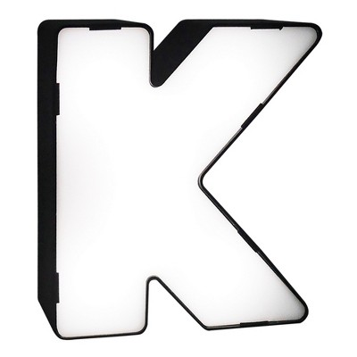 LED Neon Letter - K Novelty Table Lamp Brass - Room Essentials™