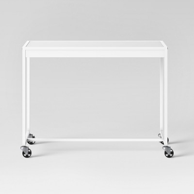 Metal Rolling Desk White - Room Essentials™