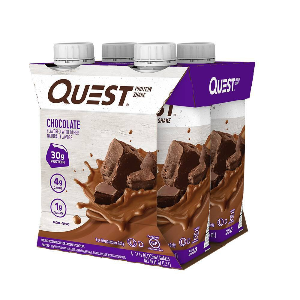 Quest Ready To Drink Protein Shake Chocolate 44 Fl Oz 4ct
