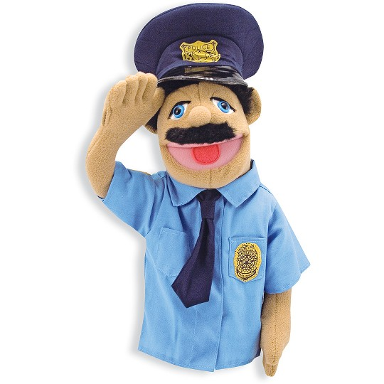 Melissa & Doug Police Officer Puppet With Detachable Wooden Rod image number null