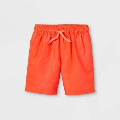 Boys' Solid Swim Shorts - Cat & Jack™ Orange