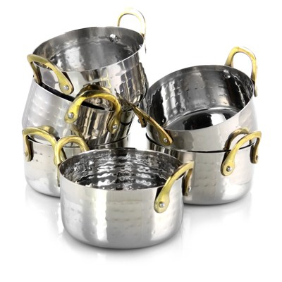 Gibson Home Lannister 6 Piece 16 Ounce Stainless Steel Mini Dutch Oven Set