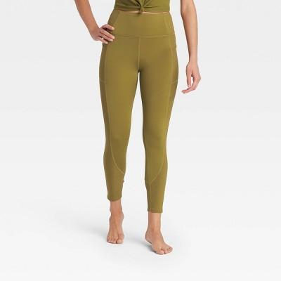 Women's Ultra High-Rise 7/8 Leggings with Ribbed Panels - JoyLab™