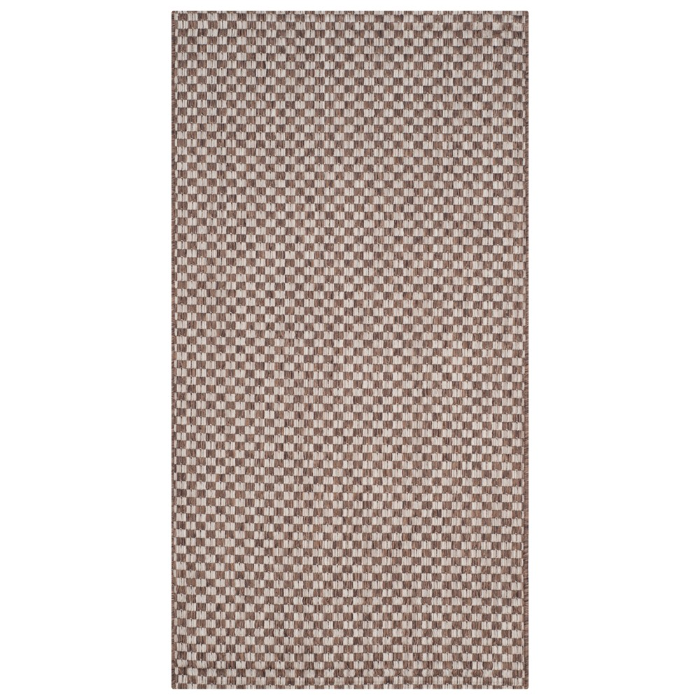 Tabatha Indoor/Outdoor Rug - Light Brown / Light Gray (Light Brown/Light Gray) - 4' X 5'-7 - Safavieh