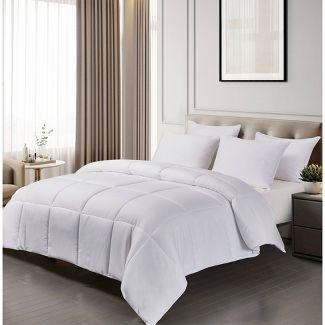 Microfiber Down Alternative Comforter (King) White