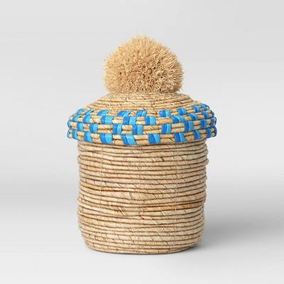 "12.5"" x 8.5"" Decorative Woven Lidded Basket Natural - Opalhouse™"