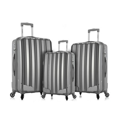 Rockland Barcelona 3pc Hardside Luggage Set - Silver