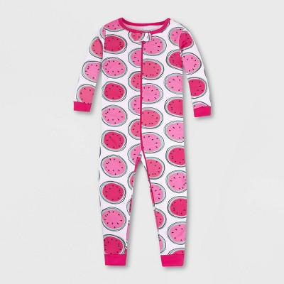 Lamaze Toddler Girls' Watermelon Pajama Jumpsuit - Pink