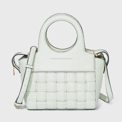 Zip Closure Satchel Handbag - A New Day™