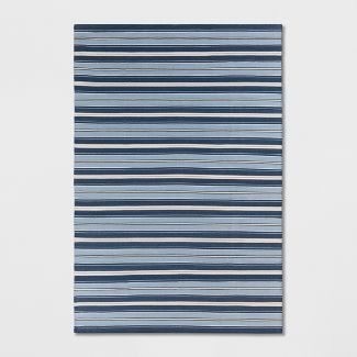 7'X10' Stripe Woven Area Rug Blue - Threshold™