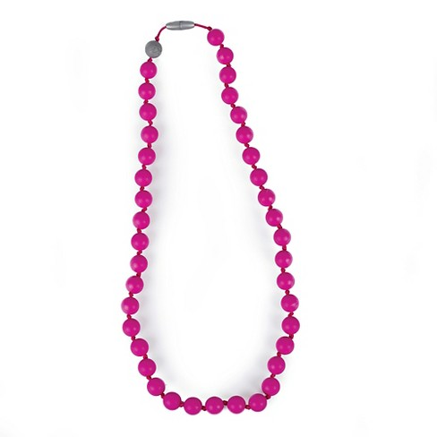 Itzy Ritzy Teething Happens™ Chewable Mom Jewelry - Round Bead Necklace - image 1 of 4