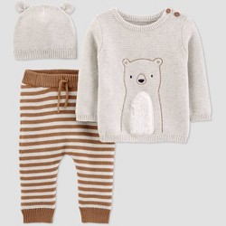 Baby Boys' Bear 3pc Top & Bottom Set - Just One You® made by carter's Brown