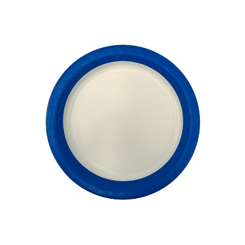 blue and white disposable plates up up target