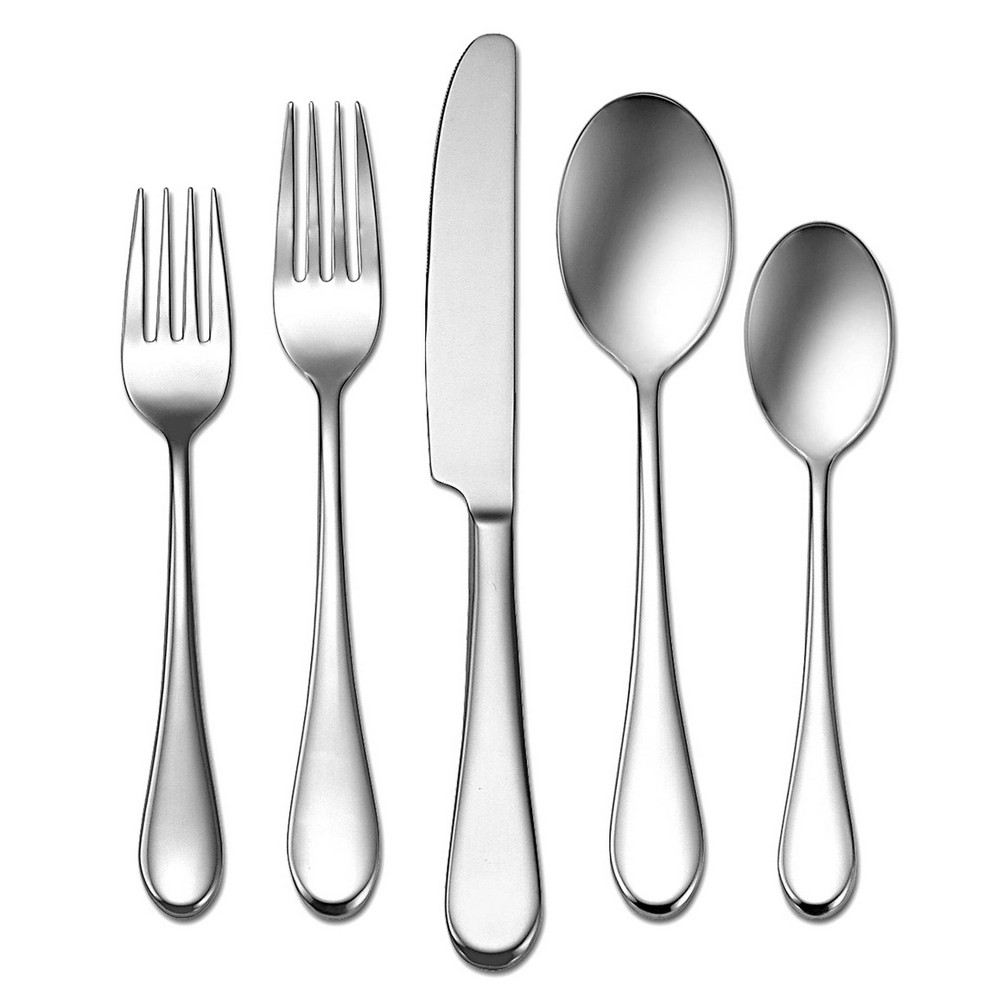 Image of Oneida 20pc Stainless Steel Icarus Silverware Set