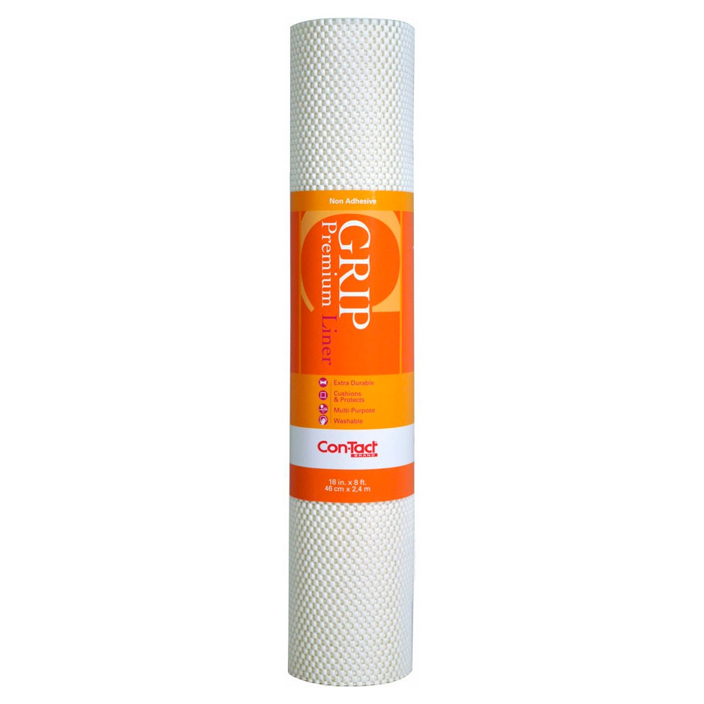 Image of Con-Tact Brand Grip Premium Non-Adhesive Shelf Liner- Thick Grip White (18''x 8')