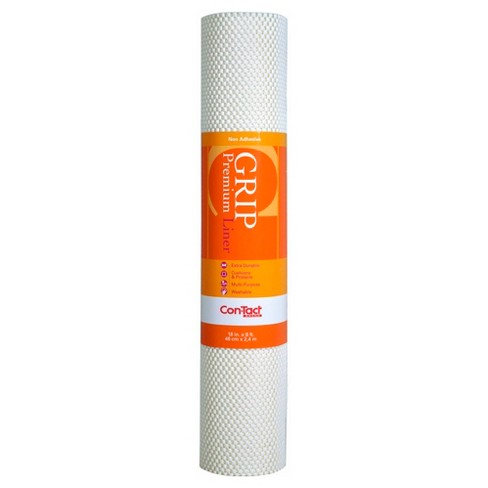 Con-Tact Brand Grip Premium Non-Adhesive Shelf Liner- Thick Grip White (18''x 8') - image 1 of 4