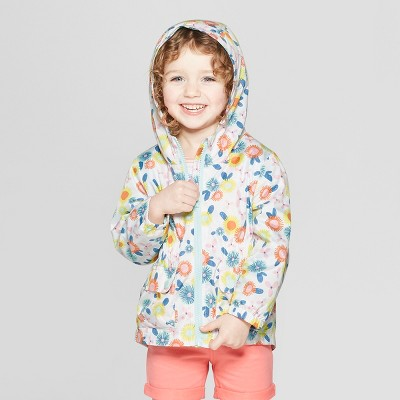 Toddler Girls' Printer Windbreaker - Cat & Jack™ White 2T