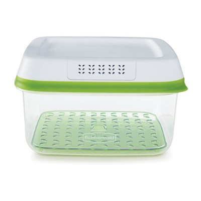 Rubbermaid FreshWorks Produce Saver Food Storage Containers, 11.1 Cup/2.63 Liter, Green