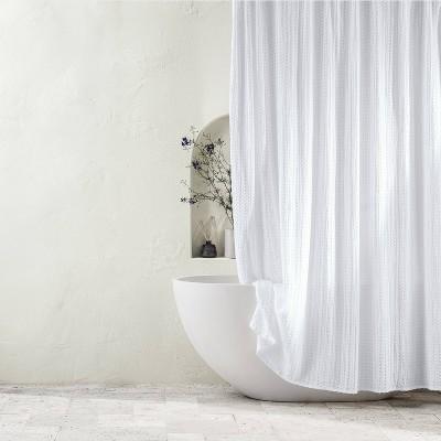 Waffle Shower Curtain White - Casaluna™