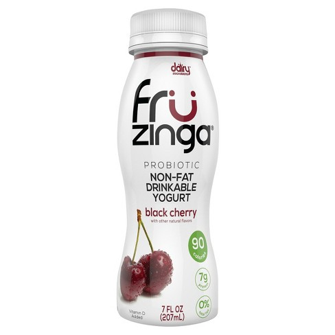 Fruzinga Black Cherry Probiotic Non Fat Yogurt Drink - 7 fl oz - image 1 of 1