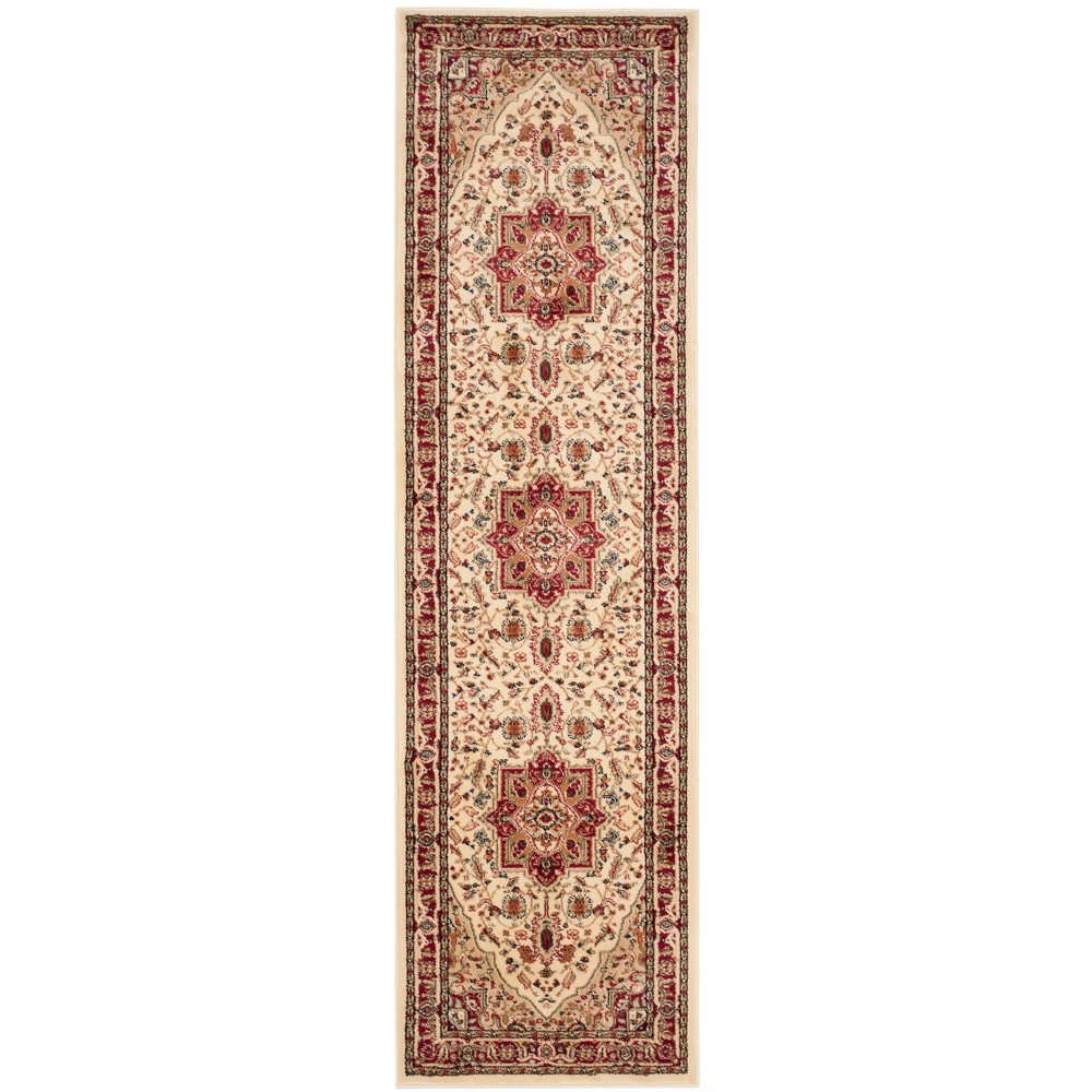 Loomed Medallion Area Rug Ivory/Red