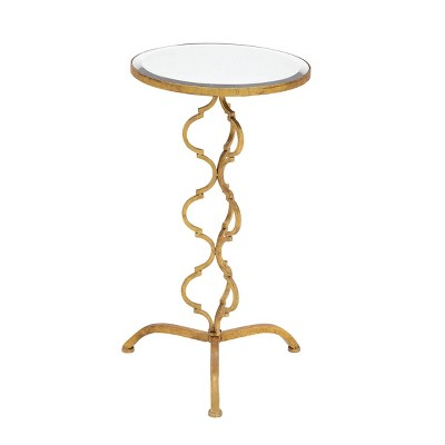 Antiqued Metal Accent Table Gold - Olivia & May