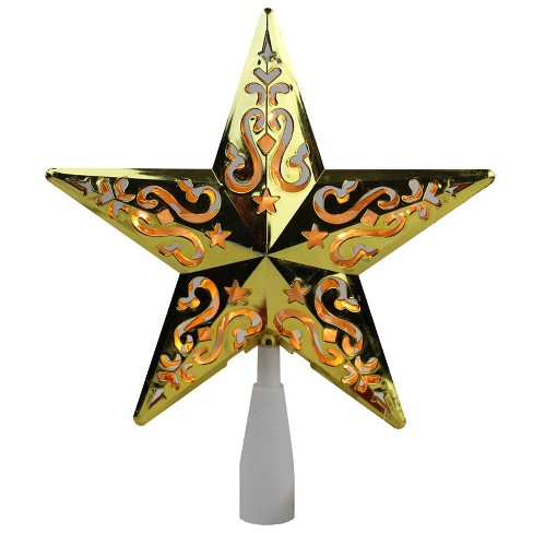 Northlight 85 Gold Star Cut Out Design Christmas Tree Topper