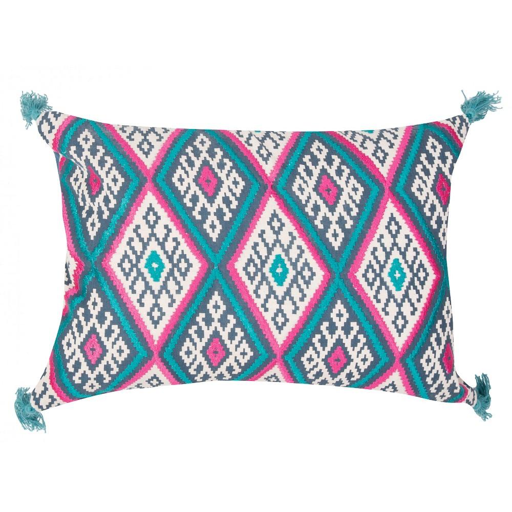 Blue Traditions Made Modern Throw Pillow - Jaipur