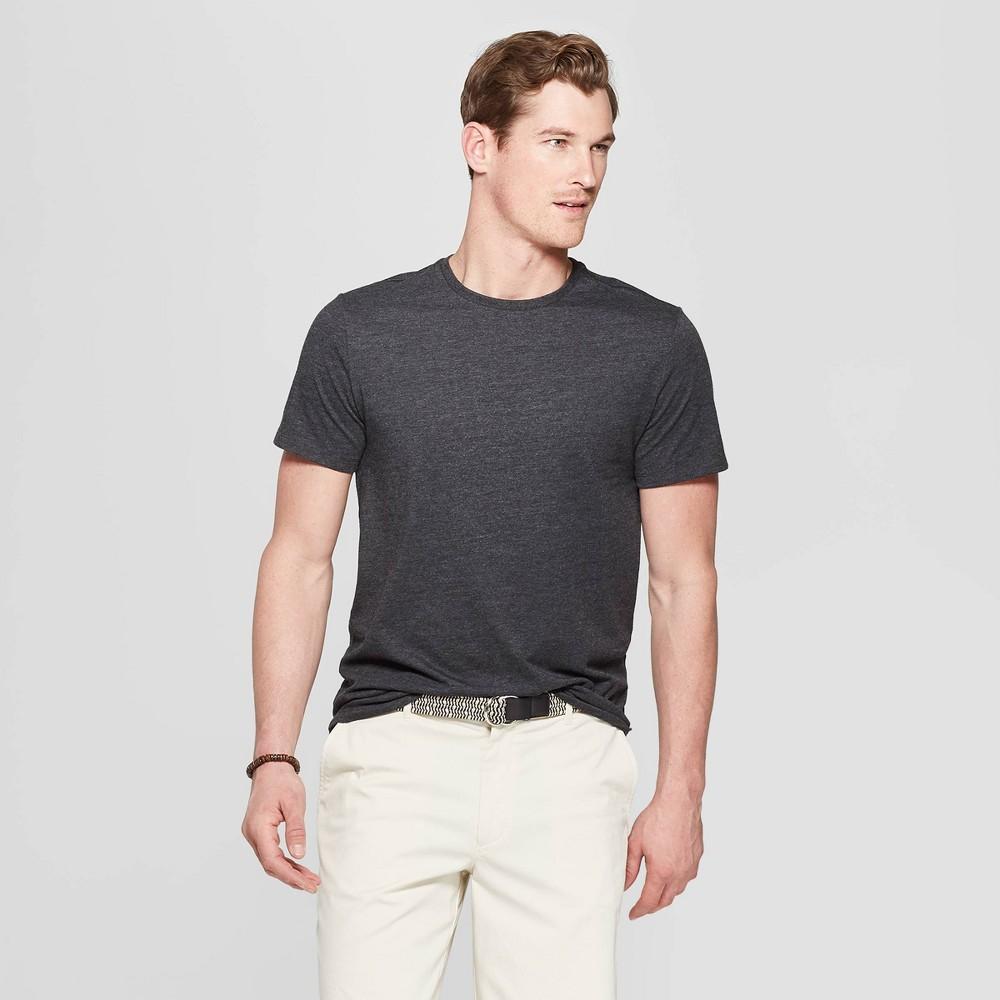 Mens Standard Fit Short Sleeve Lyndale Crew Neck T-Shirt - Goodfellow & Co Railroad Gray XL Cheap