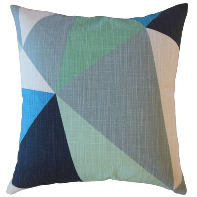 Colorblock Square Throw Pillow Navy - Pillow Collection