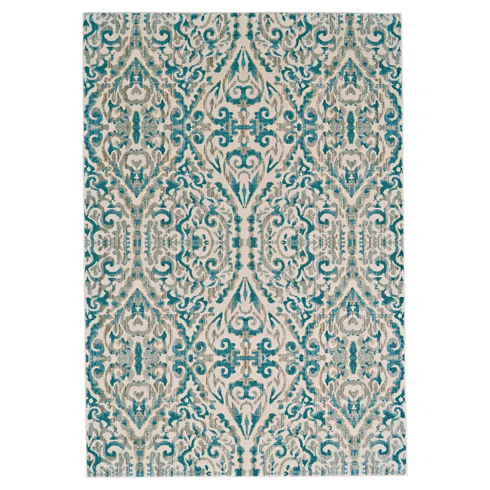 Geometric Loomed Runners Area Rugs Turquoise