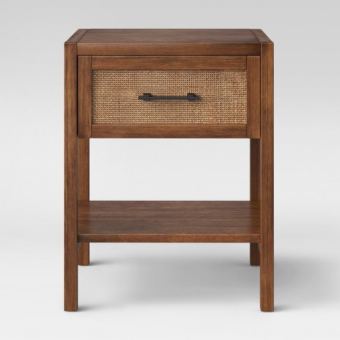 Warwick Wood & Rattan Side Table - Threshold™ - image 1 of 3