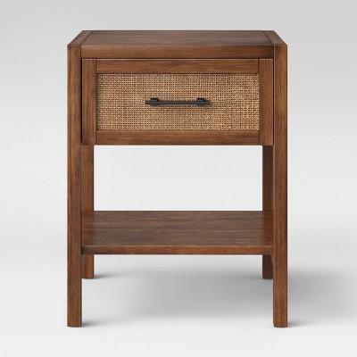 Warwick Wood U0026 Rattan Side Table Brown   Threshold™