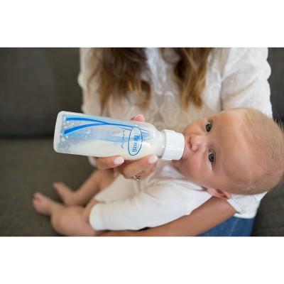 Dr. Brown's Natural Flow Standard bottle 3 pack 8oz, Clear