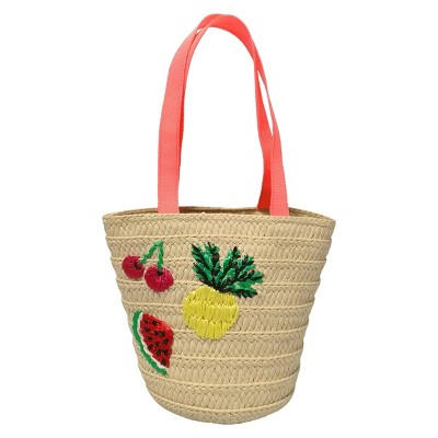 Toddler Girls' Natural Fruit Open-No Closure Tote Bag Cat & Jack™ Natural