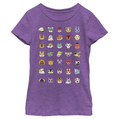 Girl's Nintendo Animal Crossing Favorite Lineup T-Shirt