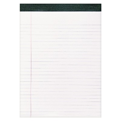 """12pk Recycled Legal Pads 8.5"""" x 11"""" White- Roaring Spring"""