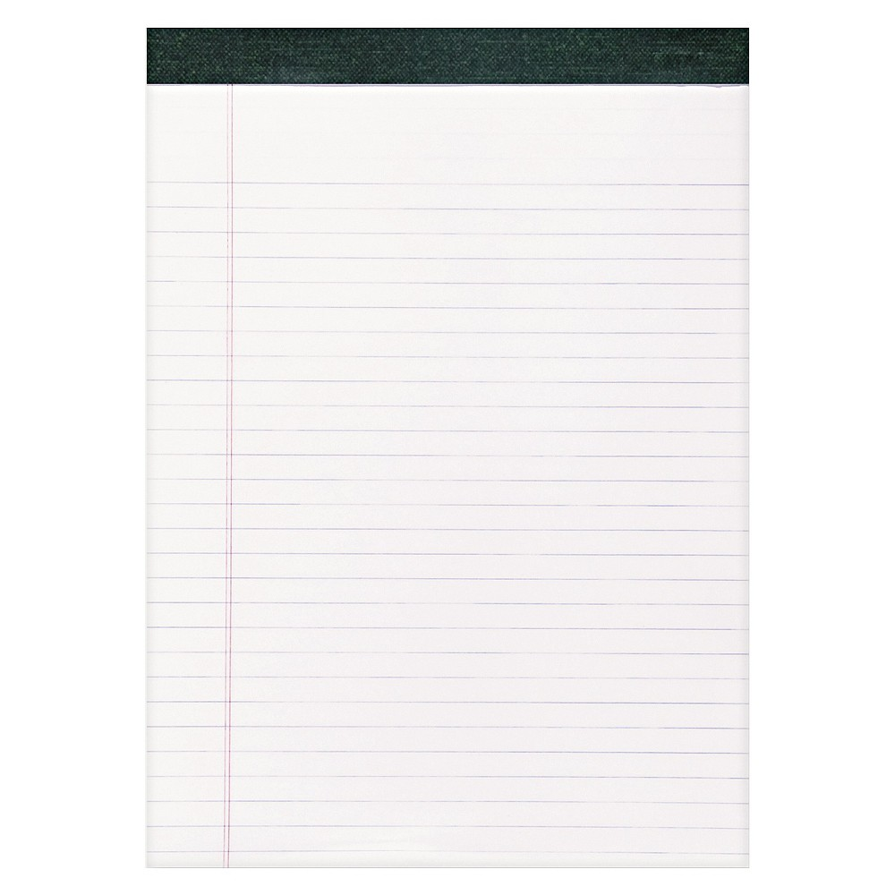 Image of Roaring Spring Recycled Legal Pad, 8 1/2 x 11 3/4 Pad, 8 1/2 x 11 Sheets, 40/Pad, White, Dozen