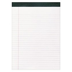 "12pk Recycled Legal Pads 8.5"" x 11"" White- Roaring Spring"